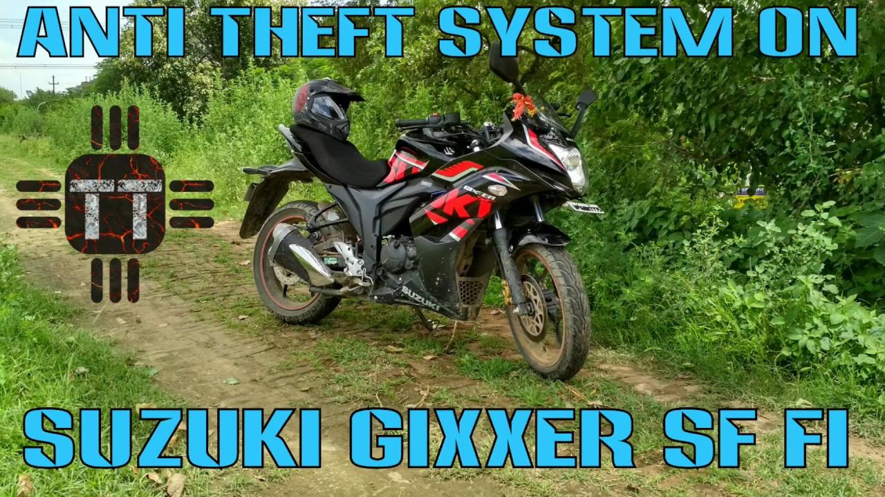 Anti Theft Alarm System On Suzuki Gixxer Sf Fi