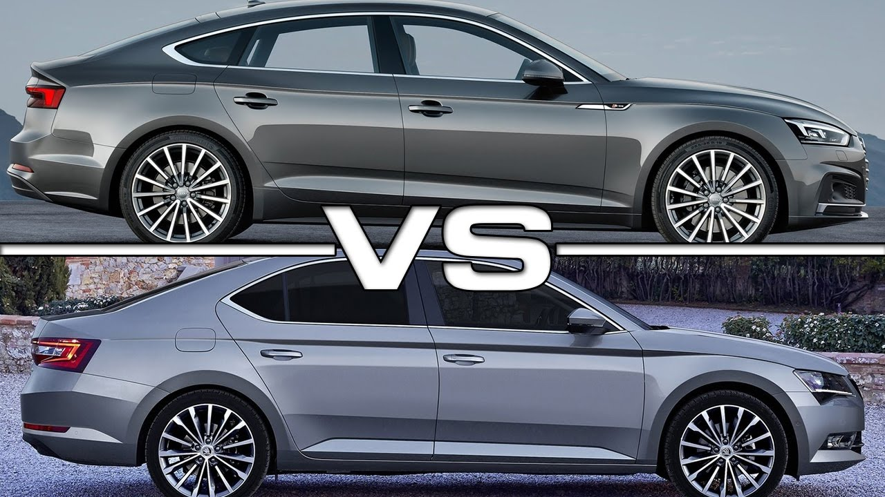 2017 Audi A5 Sportback vs 2017 Skoda Superb - YouTube