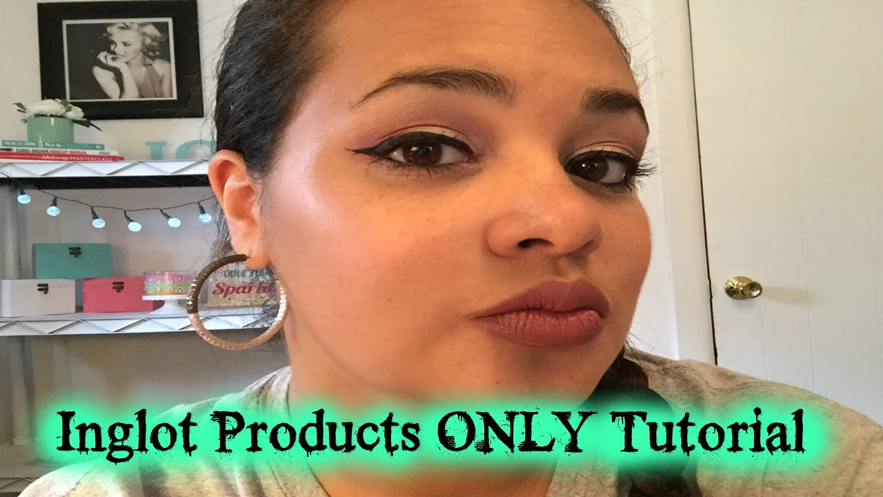 Fun Friday- INGLOT Products ONLY Makeup Tutorial. - YouTube