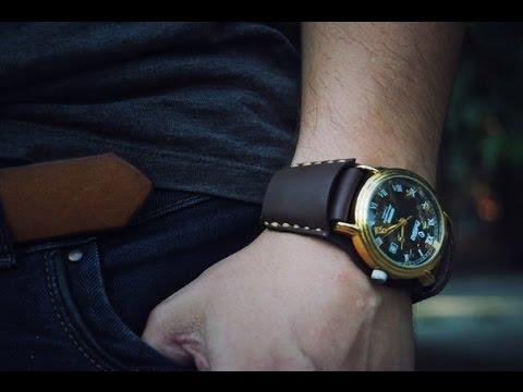 Работа с кожей. Простой браслет для часов (Simple Leather Watchband)