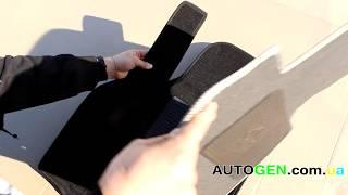 Реальный обзор ворсовых ковриков в салон Avto-Gumm 3D, тест, видео