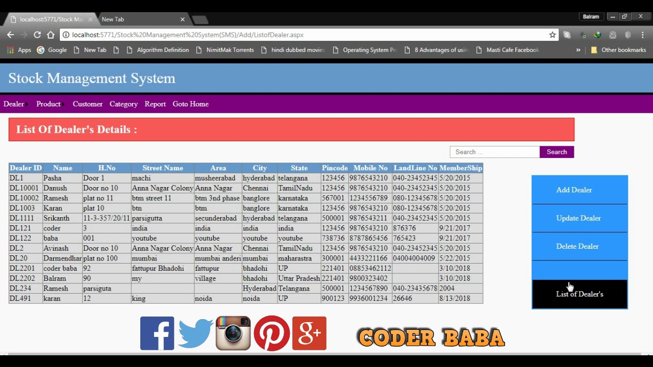 #CODERBABA | Stock Management System | ASP NET ,C# Project|