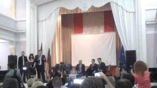 05.07.2015 -  Выступление Михаила Саакашвили в Болгарском культурном центре в Одессе