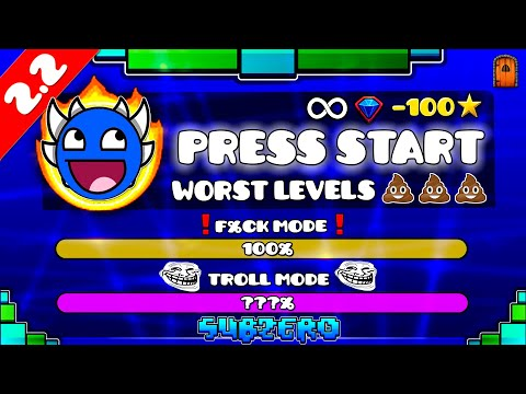 """""""THE WORST LEVELS OF PRESS START"""" !!! - GEOMETRY DASH [2.2] !!"""