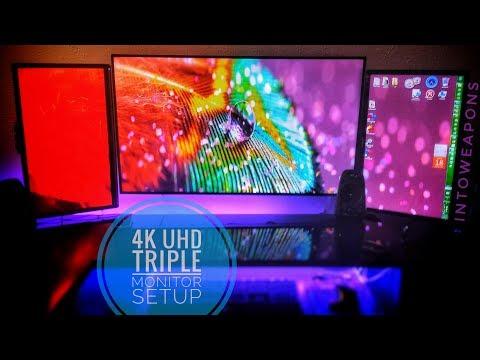 4K UHD Triple PC Monitors:  Review & Setup