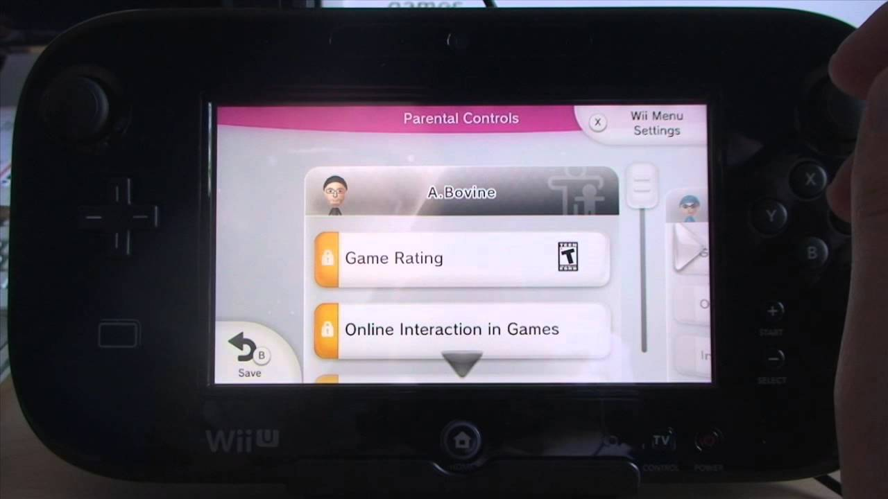 wii u parental controls youtube. Black Bedroom Furniture Sets. Home Design Ideas
