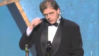 Robert Zemeckis Winning An Oscar For Forrest Gump