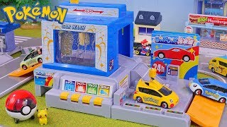 Car Wash Playset with Pokemon Toys for Kids , Clear Slime
