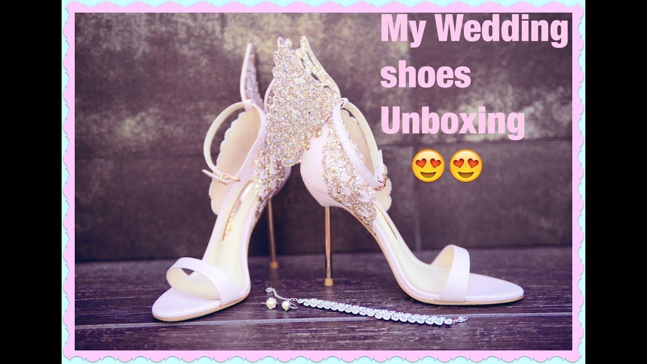 My wedding shoes unboxing sophia webster youtube for Sophia webster wedding shoes