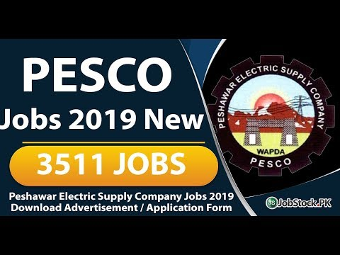 PESCO Jobs 2019 Apply Online Latest Advertisement  Jobs in PESCO