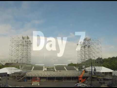 Time-lapse: Sands Steel Stage at Musikfest