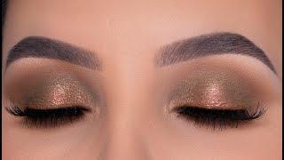 Modern Glam Bronze Eye Makeup Tutorial   Fall Inspired Eye Look