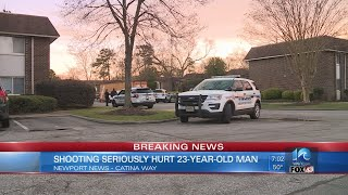 Police: Man shot in chest, leg on Catina Way in Newport News; suspect detained