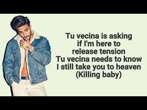 Maluma - Tu Vecina Ft. Ty Dolla $ign (Letra/Lyrics) 4K
