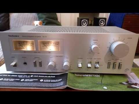 Test Technics SU-Z1 Vintage stereo Amplifier - YouTube