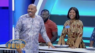CAN'T have SEXY TIME when you have a sore back! Watch this Celebrity Episode! | Family Feud Ghana