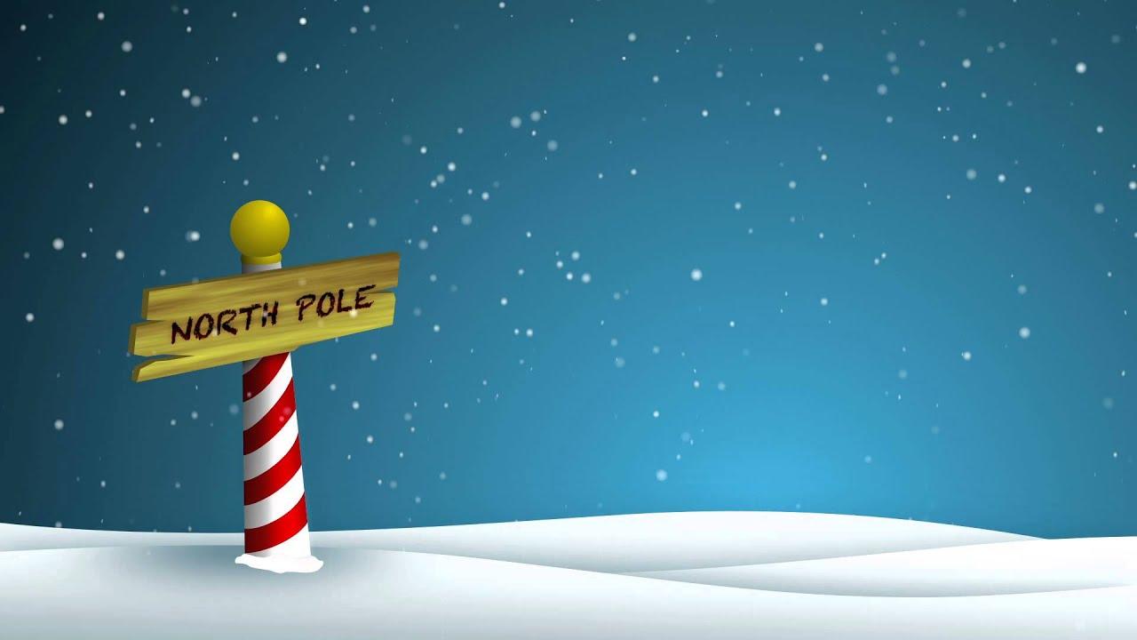 Cartoon Fall Wallpaper High Def North Pole Hd Background Loop Youtube