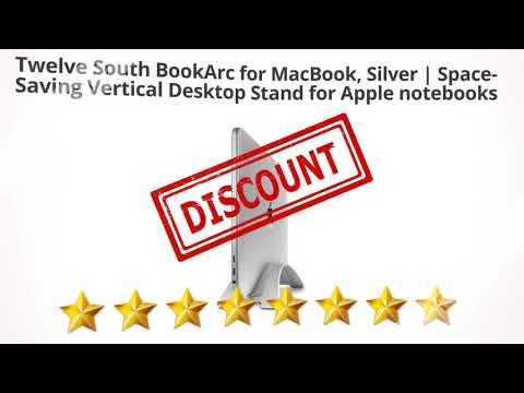Twelve South BookArc for MacBook, Silver | Space-Saving Vertical  | Review and Discount