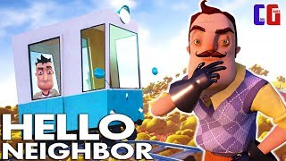 RIDE in the CAR at the NEIGHBOR's HOUSE! Walkthrough ACT 3 the Hello Neighbor Cartoon horror