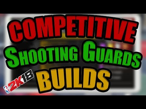 The BEST DOMINATING Competitive Shooting Guard Builds for NBA 2K18