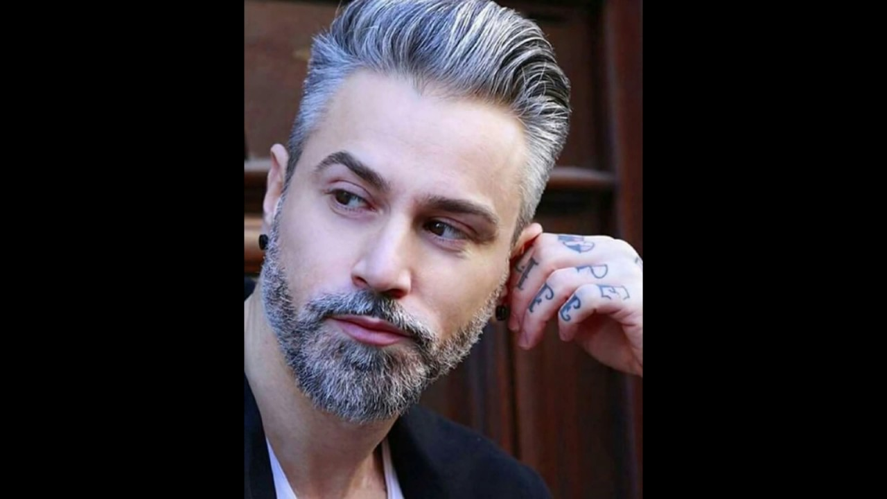salt and pepper hair styles for salt and pepper beard man hairstyles youtube