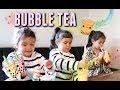 Their Reaction to BUBBLE TEA! - itsjudyslife