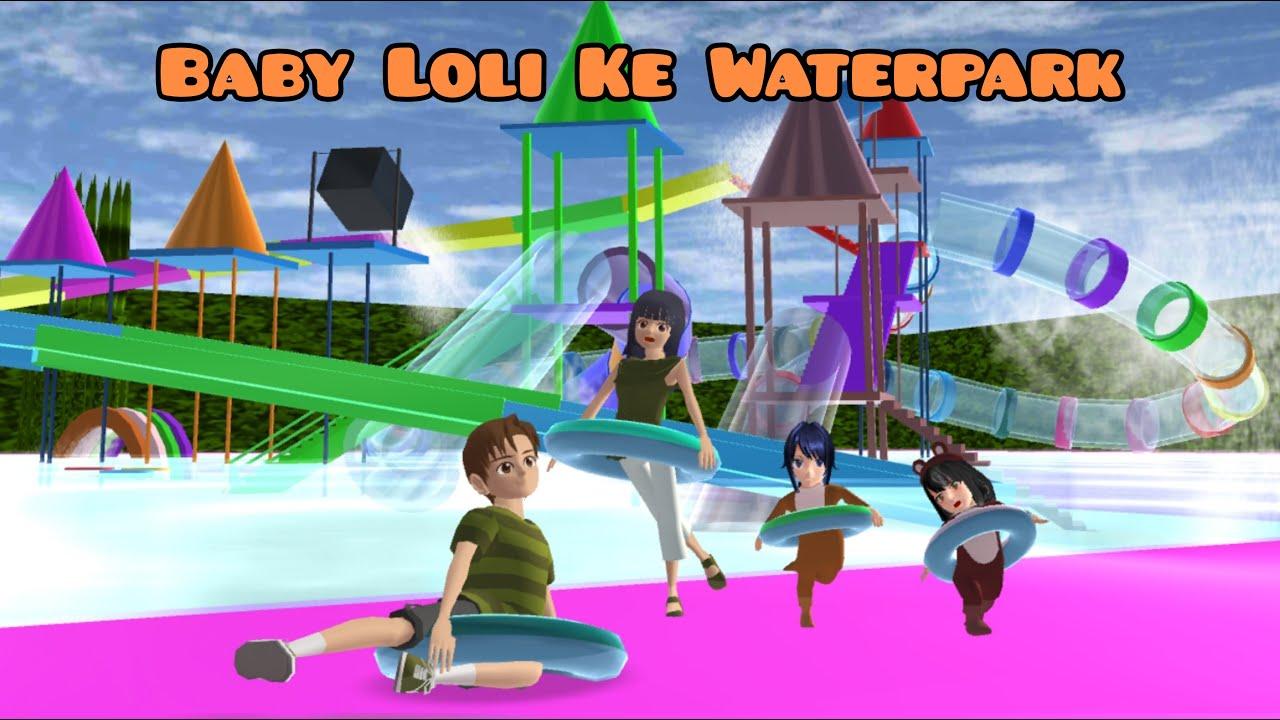 Baby Loli Yuta Mio Piknik Ke Waterpark | Baby Loli Family Vlog | Drama Sakura School Simulator