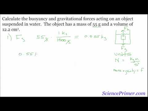 Buoyancy Force Calculation example - YouTube