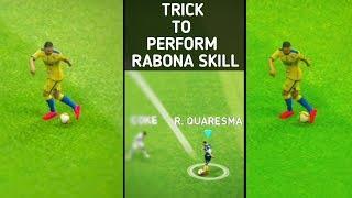 How to perform fake rabona skills pes 2019 mobile