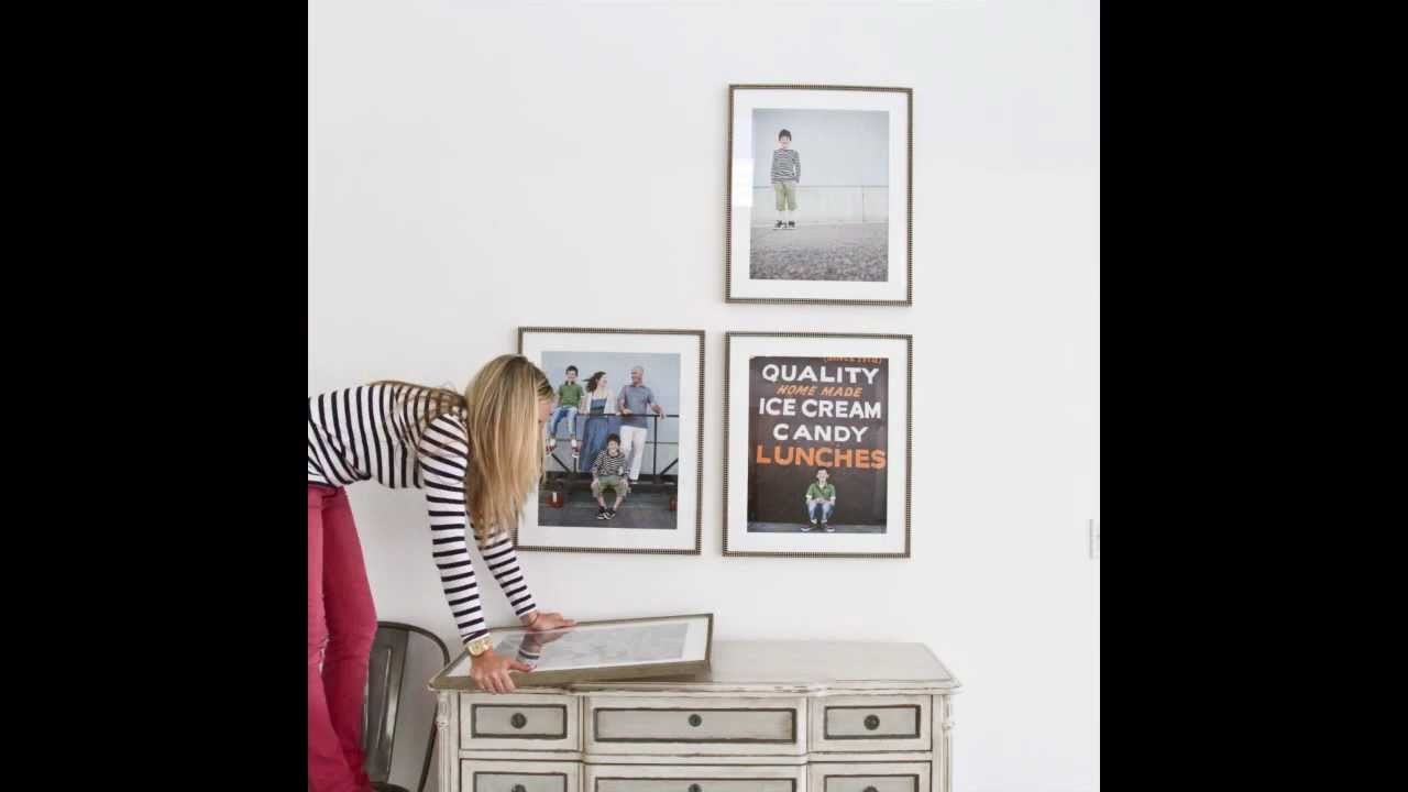 HOW TO HANG A WALL GALLERY: FRAMED PRINTS - YouTube