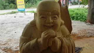 Tượng di lặc ♥️ điêu khắc tượng di lặc gỗ mít