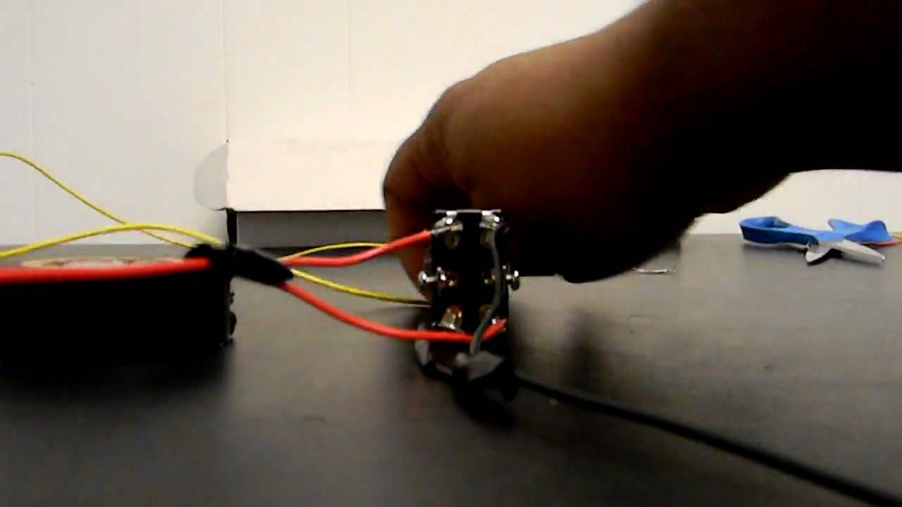 How To Wire A Linear Actuator 3 Way Toggle Switch Youtube Rocker Wiring
