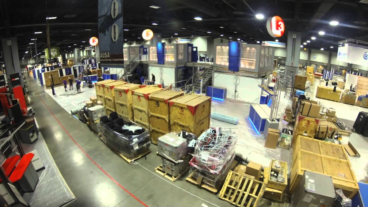 Trade Show Booth With Tv : Ausa time lapse trade show set up youtube