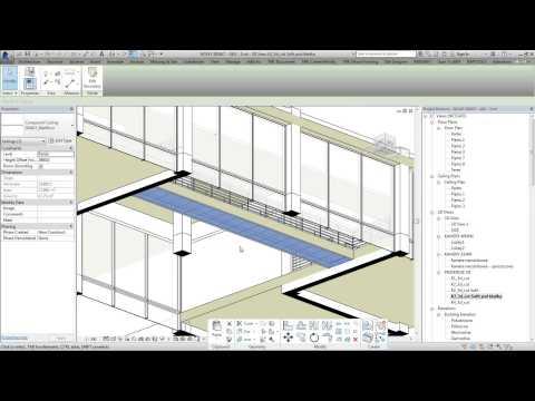 Metody projektowania sufitów podwieszanych z elementów prefabrykowanych w Autodesk Revit 2015