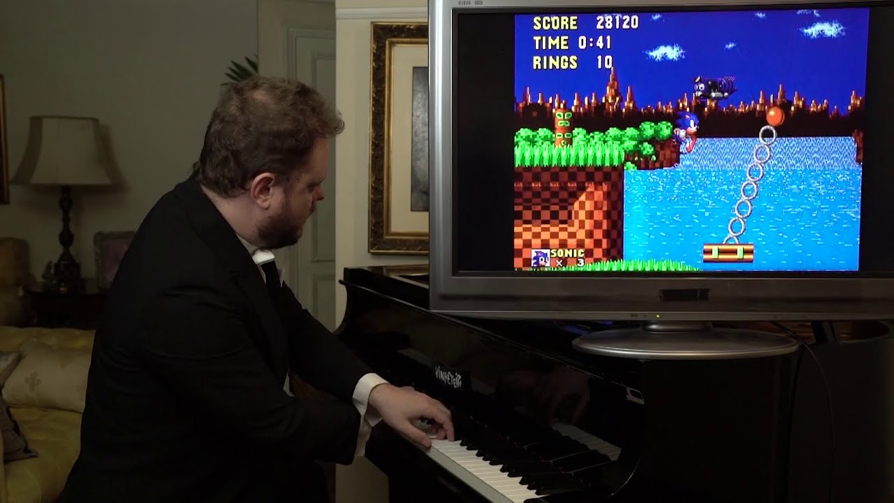 Playing Sonic with a  Piano