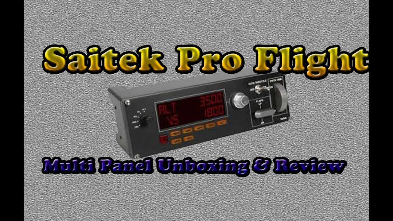 Saitek Pro Flight Multi Panel Unboxing and Review