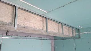 большой короб из гипсокартона, монтаж своими руками. Plasterboard installation.(простая инструкция как сделать гипсокартонный короб своими руками. В данном случае закрывает и выравнивае..., 2014-09-29T19:06:10.000Z)