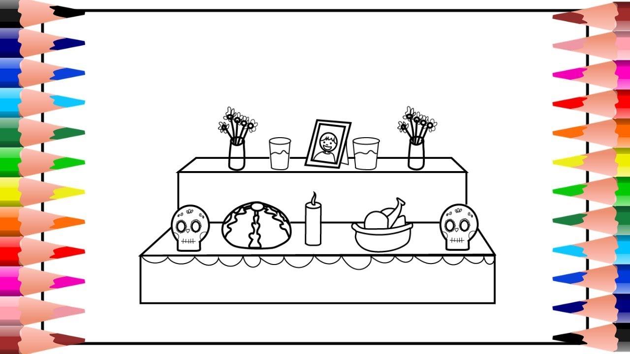 Como Dibujar Un Altar De Muertos Como Dibujar Un Altar De Muertos Facil