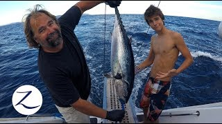 DEEP SEA FISHING CATCH CLEAN COOK on a CATAMARAN! [Sailing Zatara Ep 62]