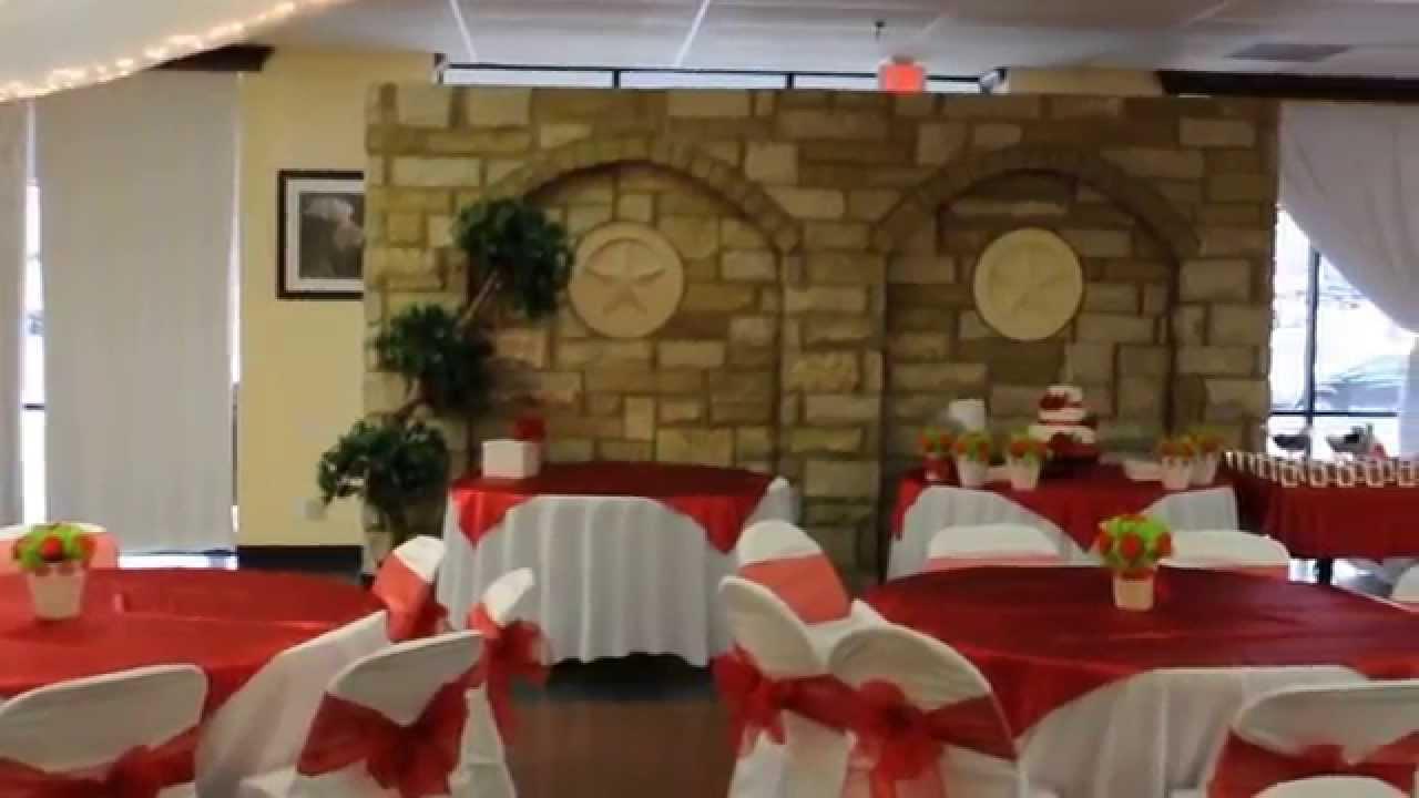 Lucas Event Center Decoration Red