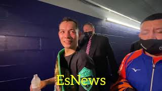 """Donaire Message To Manny Pacquiao Seconds After Winning Championship """"You Can Do It Too vs Spence"""""""