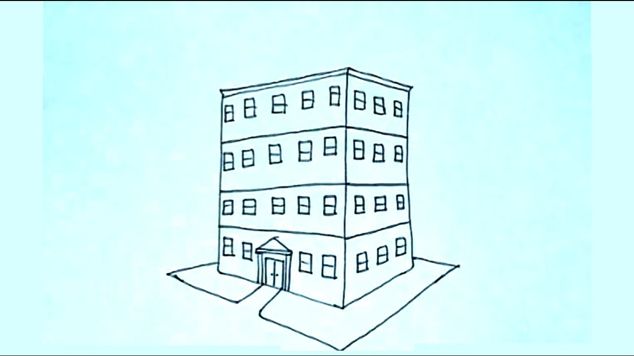 Imagenes De Edificios En Caricatura: Dibujos De Figuras En Perspectiva 1/4