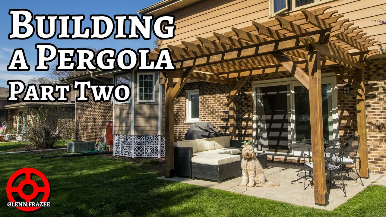 one man builds a pergola in two days on