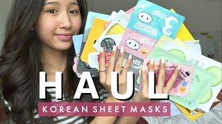 Memebox + Beauteque   Huge Sheet Mask Haul!