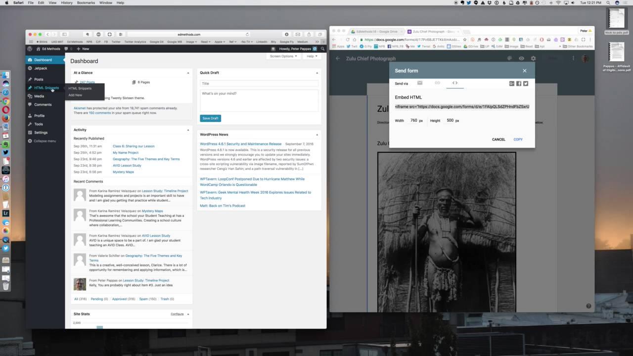 Embed a Google Form into Wordpress Blog - YouTube