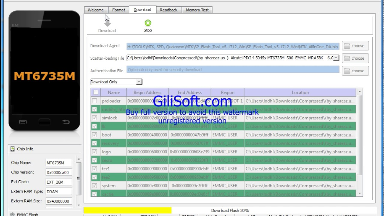 Alcatel 5045x Flashing + Dead Recover 10000% Tested