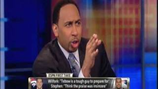 Skip Bayless vs Stephen A. Smith - Does skip hedge his bets?