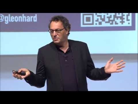 Digital transformation of business / society: Futurist Gerd Leonhard at Orange Business Hello World