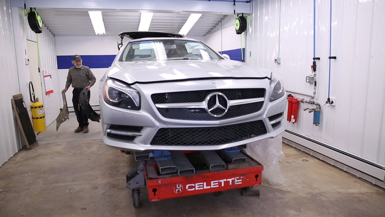 Baltimore 39 s first mercedes benz aluminum certified for Mercedes benz collision center