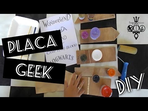 PLACA GEEK :: DIY :: Hogwarts | Narnia | Wanderland | Neverland | Camp Half Blood  #veda14
